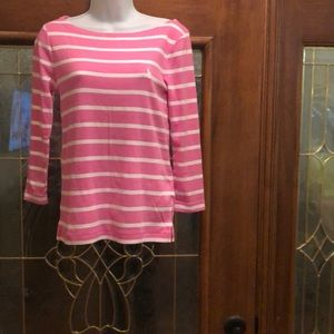 Ralph Lauren pink and white casual shirt